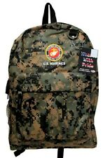 "U.S. MARINES NEW BACKPACK LICENSED WITH TAGS IN DIGITAL CAMO 12""W x 17""H x 5""D"