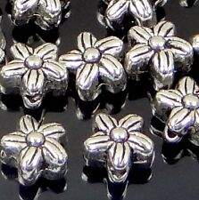 25 Silver Pewter Flower Spacer 6x5mm Beads ~ Lead-Free ~
