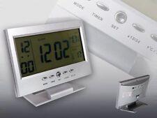 OROLOGIO SVEGLIA DIGITALE DISPLAY LCD RETROILLUMINATO CON SUPPORTO 8082 NERO