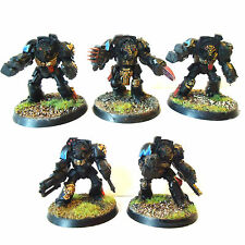 WARHAMMER 40K ARMY  SPACE MARINE TERMINATOR SQUAD   PAINTED  AND BASED