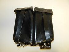 Vintage C. Riese 1957 Berlin Black Leather Double Ammo Pouch German Military
