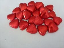 50 X RED VALENTINES CHOCOLATE HEARTS TRADITIONAL SWEETS