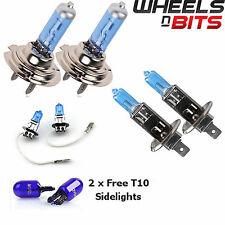 2x H7 H1 H3 55w HALOGEN HID XENON GAS FILLED BULBS upto 50% BRIGHTER Super White