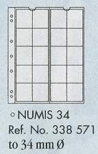 Numis coin pages - Numis 34. 5 sheets & white interleaving.
