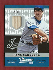 RYNE SANDBERG SERIAL #'d /99 2014 Game Used GU BAT Classics Timeless #22 HOF
