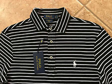 Polo Ralph Lauren Featherweight Mesh Shirt Mens XL Black Striped w/Pony $89 NWT