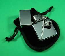 TATTOO Petrol Lighter in Pouch Free UK Post INKED BODY ART PAGAN TRIBAL