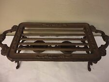VTG WROUGHT IRON VOTIVE CANDLE ORNATE FOOD DISH FOOTED WARMER  STAND