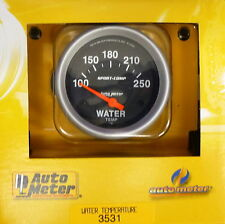 Auto Meter 3531 Sport Comp Electric Water Temperature Gauge Temp 100 - 250 Deg