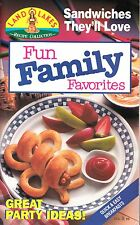FUN FAMILY FAVORITES LAND O LAKES COOKBOOK 1993 #6 PRETZELWICHES, PARMESAN TWIST