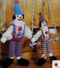 Vintage Knitting Pattern CUTE CLOWN DOLLS SOFT TOYS with CLOTHES -  PDF