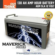 12V 130AH AMP HOUR AGM BATTERY SLA 12 VOLT DEEP CYCLE DUAL FRIDGE SOLAR CARAVAN
