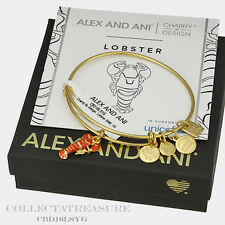 Authentic Alex and Ani Lobster Unicef Yellow Gold Bangle