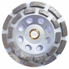 "5"" Standard Double Row Concrete Diamond Grinding Cup Wheel for Angle Grinder"