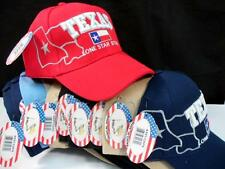 12x Wholesale Lot Embroidered Base Ball Fishing Golf Cap Hat TEXAS Flag Map #ee