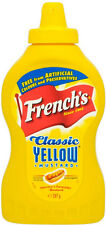 French's Classic Yellow Mustard Squeezey Bottles x 2 (397g) (Same day free post)