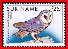 SURINAME 1993 Tropical BIRDS / OWL SC#731 MNH CV$35.00