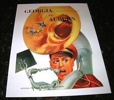 1949 GEORGIA BULLDOGS vs AUBURN TIGERS NCAA Football Progam COVER ART ONLY