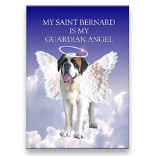 ST BERNARD Guardian Angel FRIDGE MAGNET Saint DOG