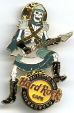 Hard Rock Cafe GOTHENBURG 2005 HALLOWEEN PIN Skeleton Axe Guitar Player #30322