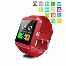Relojes Inteligent Bluetooth Smart Wrist Watch Phone For Android Samsung Red