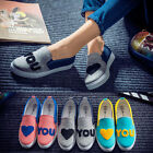 Women Low Top Casual Canvas Shoes Sneakers Breathable Rubber Flats Running Shoes