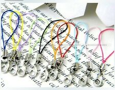 100pcs Mix Colors Mobile Cell Phone Cords Strap Lariat Lanyard Lobster Clasp