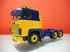 Tekno Scania 1-series - Demo tractor unit 6x2 in ASG blue and yellow.