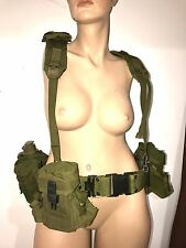 Military Army Utility Belt With Suspender Harness,  Canteen & Pouches