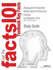 NEW Studyguide for Essential Mathematics for Economic Analysis by Sydsaeter, Knu
