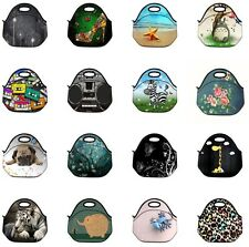 Soft Neoprene Travel Picnic Food Insulated Lunch Tote Cooler Bag Handbag Pouch