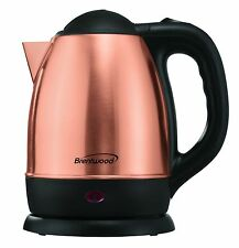 1.7 Liter Stainless Steel Electric Cordless Water/Tea Kettle Brand New Gold Rose