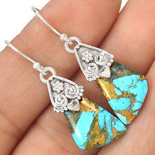 Rare Ithaca Peak Turquoise 925 Sterling Silver Earring Jewelry EE12438