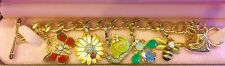 """JUICY COUTURE """"GARDEN CRITTER"""" CHARM BRACELET WITH 5 REMOVABLE CHARMS"""