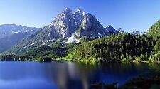 "Mountain Lake Landscape- 42"" x 24"" LARGE WALL POSTER PRINT NEW."