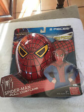 2012 The Amazing Spider-Man 2 Piece Full Costume Mask & Jumpsuit Size 4-6x