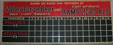 Phillies Athletic Valley Forge Beer Rams Head Ale Scoreboard Chalk Sign Magnetic