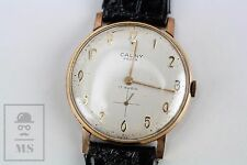 Vintage Cauny Prima De Luxe 17 Rubis Swiss Wind Up Wristwatch