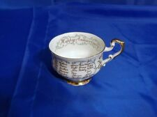 """PARAGON """"HAPPY ANNIVERSARY"""" by Appointment to Her Majesty The Queen FOOTED CUP"""