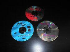 Formula One Beyond Limit Sewer Shark Prize Fighter Sega CD Lot of 3 Disc Only