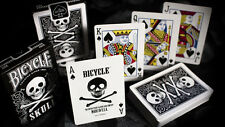 SKULL BLACK BACK DESIGN BICYCLE DECK OF PLAYING CARDS BY USPCC MAGIC TRICKS