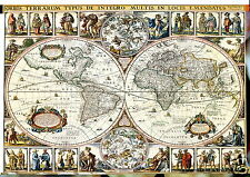 vintage  WORLD map  GLOBE ATLAS POSTER A1 SIZE PRINT -poster  FOR YOUR FRAME