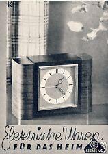 Elektrische Uhr Siemens Reklame 1934 Wecker clock Werbung ad