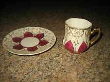VINTAGE TEA CUP AND SAUCER~MADE IN OCCUPIED JAPAN~LENWILE CHINA~ARDALT~#6143~