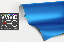 VViViD Metallic blue Matte vinyl car wrap 1ft x 5ft decal film paint-protect XPO