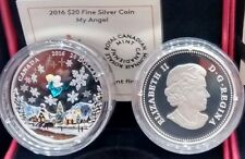 Venetian Glass Angel $20 2016 1OZ Pure Silver Proof Murano Glass Canada Coin.