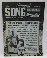 National Song Magazine March 1942 Radio - Stage - Screen 32 pages Latest Songs