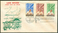1964 Philippines LAND REFORM First Day Cover