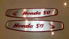 Honda Scooter C50 C100 CA100 Super Cub Emblem Gas Tank NEW Aluminum Decal  Pair