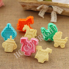 Lovely Baby Style Biscuit Cookie Plunger Cutters Fondant Cupcake Decorating Mold